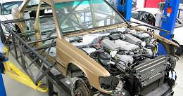 Frankenstein Mercedes: egy C63 AMG-t rejt a 190-es kasztni