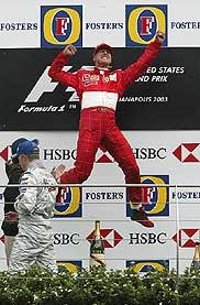 Schumacher kitörő öröme nem meglepő, nagyon közel került hatodik világbajnoki címéhez
