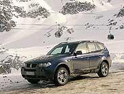 Ide már csak a sífelvonó és a BMW X3 jár. Télisportközpontokban nagyon jól mutat a kicsit magas építésű, dinamikus X3
