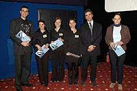 A győztesek és Serge Yoccoz, a Renault Hungária vezetője