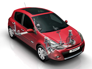 Az új Clio alapváltozatának felfüggesztése megegyezik a III-as szériáéval
