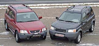 A Honda a méretesebb, hosszúsága és tengelytávolsága egyaránt felülmúlja a Land Roverét