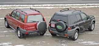 A Freelander szélesebb és magasabb a CR-V-nél