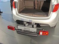 Felárért lökhárítóba integrált kerékpártartó is kérhető a kis Opelhez
