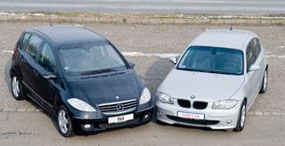 Megnyerő alakok: a magas építésű Mercedes tágas belsővel, míg a lapos építésű BMW a vezetés élményével kecsegtet
