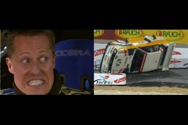 Schumacher autójából figyelte Michele Mouton borulását