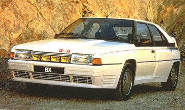 Megnyújtották a BX orrát, hogy a hosszában beszerelt Peugeot turbómotor elférjen