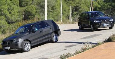 ... de a BMW X5-ös is ott van a célkeresztben
