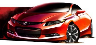 Kupé-tanulmánnyal kezdi a bemutatkozást az új Honda Civic