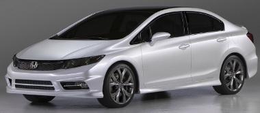 Fekete-fehérben igazi japán sportlimuzinnak tűnik az új Civic Sedan