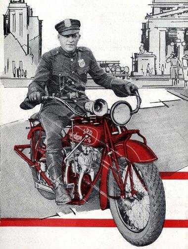 Egy 1927-es Indian a korelnök a motorkerékpárok között