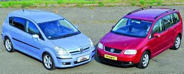 Corolla Versót másfél, Volkswagen Tourant 1,8 millió forinttól kapni