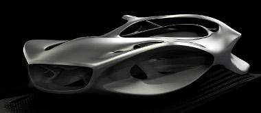 Lendületes a Mercedes formatervezők által útmutatónak nevezett szobor megjelenése