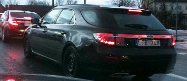 Trollhättan környékénmár a közúton járkál a még be sem mutatott Saab 9-5 SportCombi