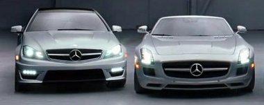 C 63 AMG Coupé és SLS AMG Roadster szerepel a Mercedes új reklámjában. Még be sem mutatták őket