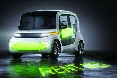 Közösségi közlekedési eszköznek szánt elektromos autó az EDAG ötlete. Mint egy taxi, amit az ügyfél vezet