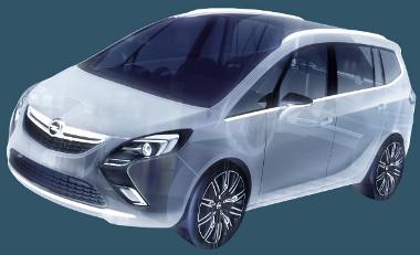 Bumeráng alakú a fényszóró-légbeömlő a kocsi elején, üvegtető lesz, de a szélvédő feletti merevítőt már nem hagyják ki a szériaváltozatból