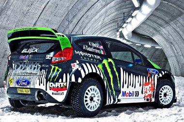 Így már jobban látható a Fiesta WRC fényezése