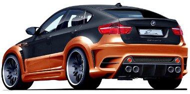 Hátulról is összetéveszthetetlen látvány a Lumma BMW X6-osa