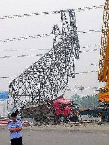 Lekapcsolt a Tianjin városában máködő erőmű a közúti baleset miatt