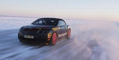 A befagyott Balti tengeren hajtotta végre a rekorddöntést a Bentley - 2007-ben is itt sikerült a kísérlet