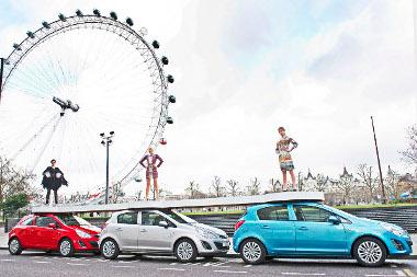 A Londoni Divathét attrakciója a mobil kifutó