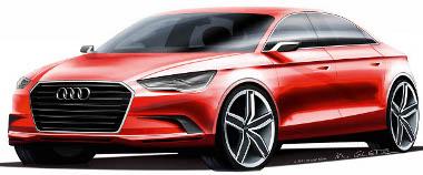 A forma az Audi A3 Sedané, a motor az RS3-asból jön