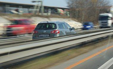 Nem geisterfahrer, csak terelés az autópályán