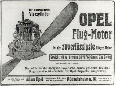 Kortársai közül alacsony tömegével és üzemanyag-fogyasztásával tűnt ki az Opel repülőgép motor