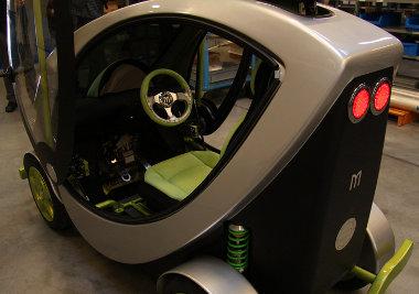 Csak egyszemélyes a Micron elektromos autó