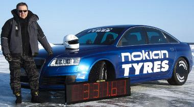 Janne Latinen Finnország partjai előtt állította be az új jégsebesség rekordot