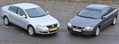A VW értéktartása magasan a Volvóé fölé tornyosul, használtan az olcsóbb S60-as jelenti a kisebb kiadást