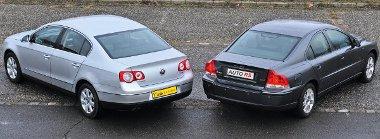 Farpofák: a Passat hosszabb, szélesebb és magasabb is az S60-asnál