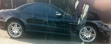 Alaposan összetört Cesc Fabregas autója