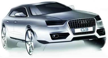 Nem kell meglepetésre számítani, az Audi Q3-as négy évvel ezelőtt már bemutatkozott Cross Coupe quattro tanulmányként