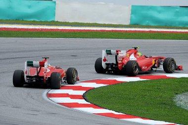 Alonso hibája után fordult a sorrend, s a két ferraris közül Massa végzett előrébb