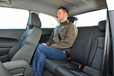 A hátsó sor igencsak szűkös az Audi A1-ben
