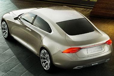 Nem is limuzin, hanem óriáskupé a Volvo Universe tanulmánya, amely egy hamarosan bemutatkozó újdonság (S80) előfutára