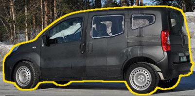 A Fiorino-karosszéria alatt a Fiat új kompakt szabadidő-autója lapul, amivel az SX4-et váltják