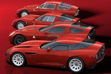 TZ2, TZ2 Stradale, TZ3 Corse és TZ3 Stradale. Hasonló megjelenés, de mind egyedi konstrukció