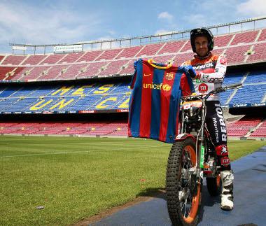 A Barca-rajongó Toni Bou triálos világbajnok számára egy álom vált valóra