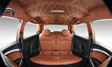 A belső átalakításakor egyértelműen a Bentley volt a példa
