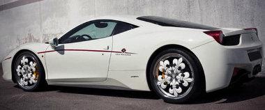 Eleget változtat a Ferrari 458 megjelenésén a Fleur-de-lis felni. Igazuk van