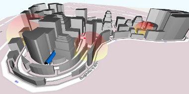 Virtuális város - elektroos zavarókkal lehet szimulálni a toronyházak hatásait a modern kommunikációs rendszerekre