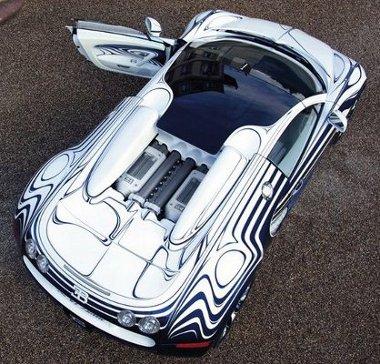 Különleges fényezés, porcelán-betétek: Veyron L Or Blanc 1,65 millió eurórért
