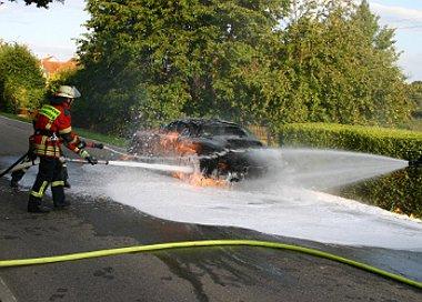 Negyed óra alatt eloltották a tüzet - az autót mégse lehetett megmenteni