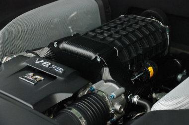 A kompresszor igazából nagy sebességnél gyorsítja fel az Audi R8-ast