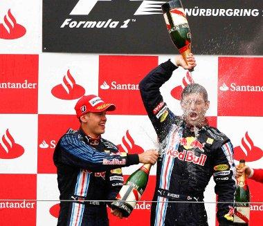 Pezsgőzhetnek-e a Red Bull pilótái a Német Nagydíj végén?