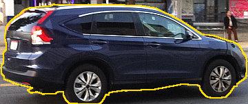 Hátulról nézve hasonlít az XC60-as Volvo-ra az új CR-V formája - csak egy kicsit szögletesebb