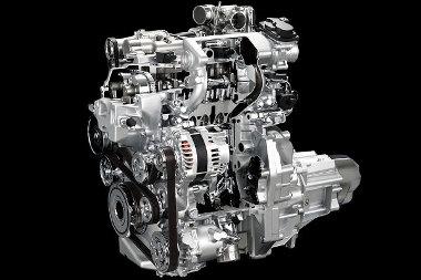 A Miller-ciklus szerint üzemelő, közvetlen befecskendezésű motor kompressziója igen magas (13:1)